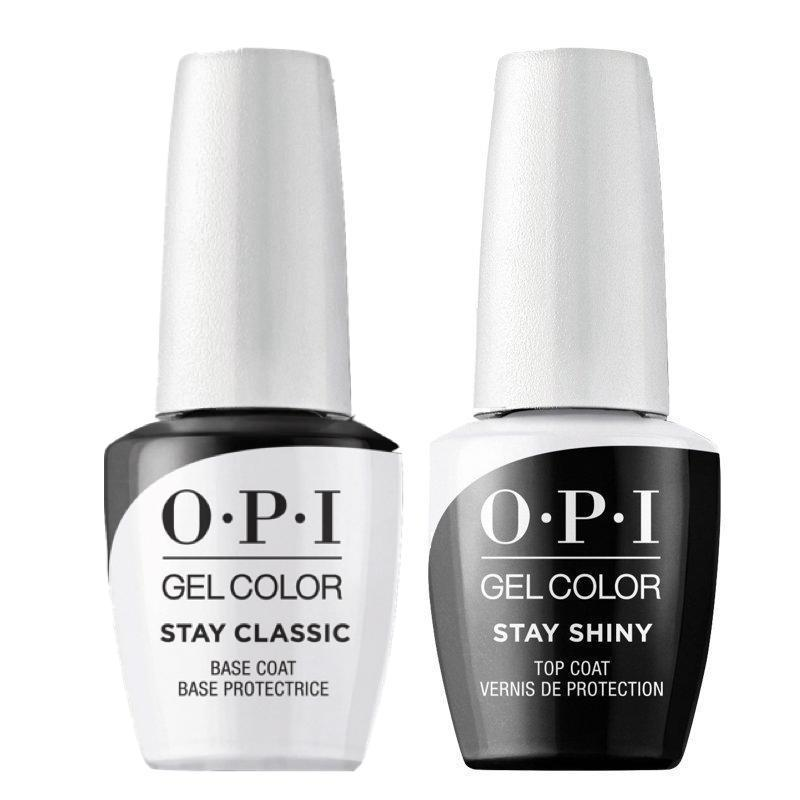 OPI GelColor Stay Classic And Shiny Base & Top Coat Duo Pack-Gel Nail Polish-Universal Nail Supplies
