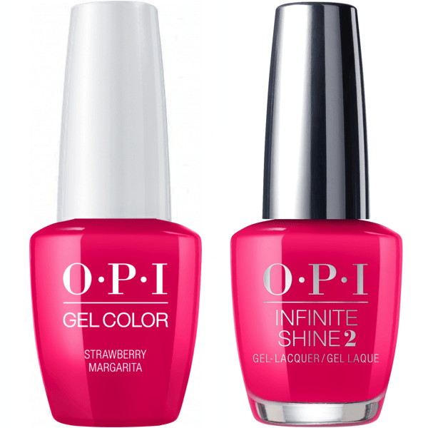 OPI GelColor Strawberry Margarita #M23 + Infinite Shine #M23-Gel Nail Polish + Lacquer-Universal Nail Supplies