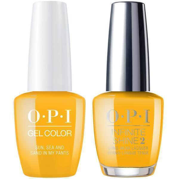 OPI GelColor Sun, Sea And Sand In My Pants #L23 + Infinite Shine #L23-Gel Nail Polish + Lacquer-Universal Nail Supplies