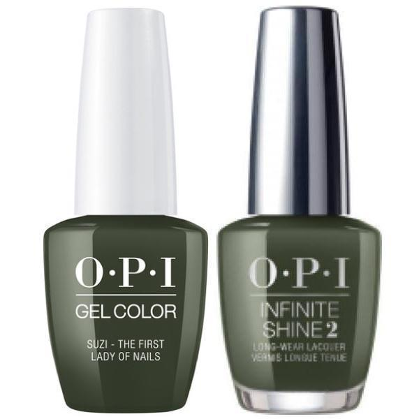 OPI GelColor Suzi-The First Lady Of Nails #W55 + Infinite Shine #W55-Gel Nail Polish + Lacquer-Universal Nail Supplies