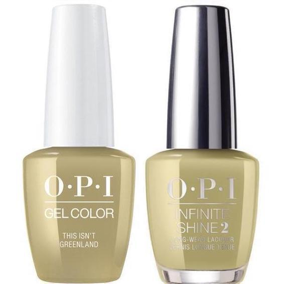 OPI GelColor This Isn't Greenland #I58 + Infinite Shine #I58-Gel Nail Polish + Lacquer-Universal Nail Supplies