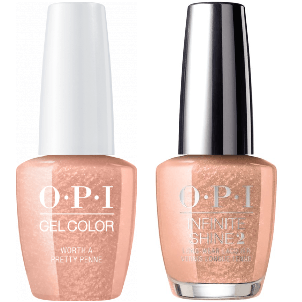 OPI GelColor Worth A Pretty Penne #V27 + Infinite Shine #V27-Gel Nail Polish + Lacquer-Universal Nail Supplies