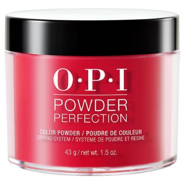 OPI Powder Perfection Red Hot Rio #DPA70-Powder Nail Color-Universal Nail Supplies