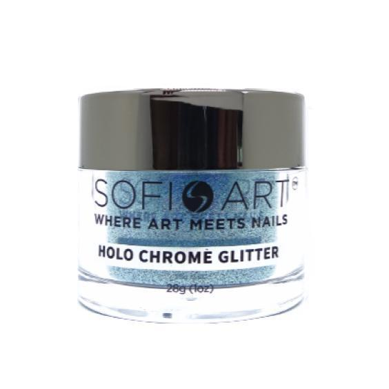 Sofi Art Holographic Chrome Glitter Holo Blue #GLS009-Dipping Powder-Universal Nail Supplies