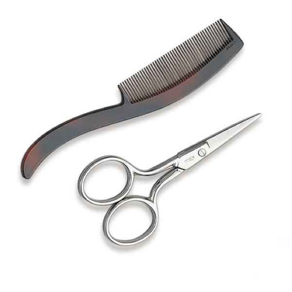 Ultra Haircare - Mustache Scissors & Comb #4102-Nail Tools-Universal Nail Supplies