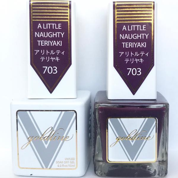Vetro Goldline Gel + Matching Lacquer - A Liitle Naughty Teriyaki #703-Gel Nail Polish + Lacquer-Universal Nail Supplies