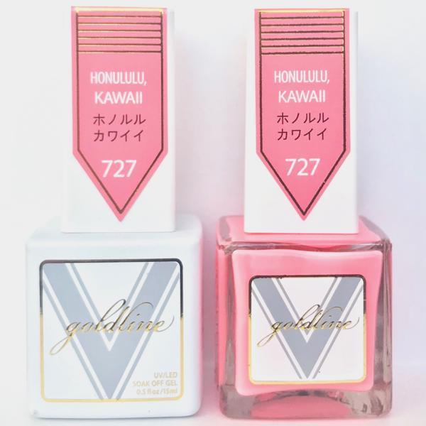Vetro Goldline Gel + Matching Lacquer - Honululu, Kawaii #727-Gel Nail Polish + Lacquer-Universal Nail Supplies