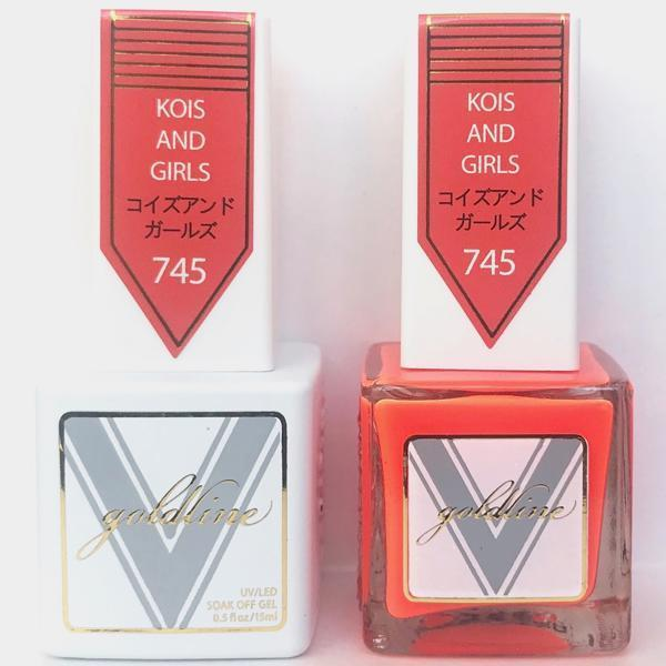 Vetro Goldline Gel + Matching Lacquer - Kois And Girls #745-Gel Nail Polish + Lacquer-Universal Nail Supplies