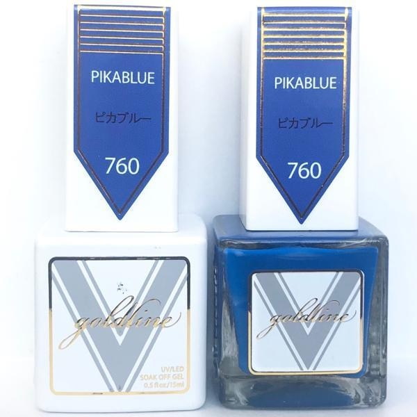 Vetro Goldline Gel + Matching Lacquer - Pikablue #760-Gel Nail Polish + Lacquer-Universal Nail Supplies