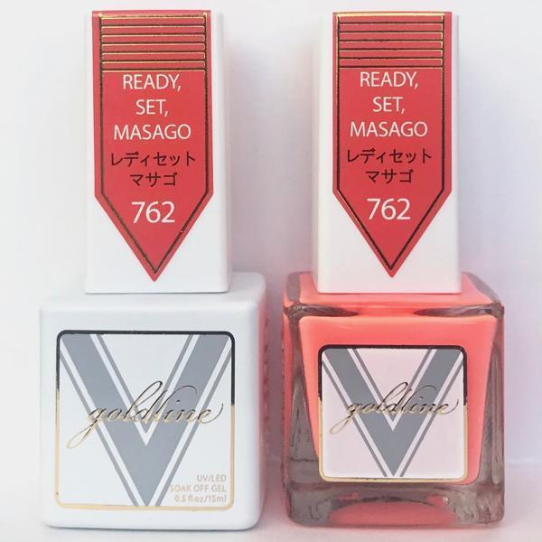 Vetro Goldline Gel + Matching Lacquer - Ready, Set, Masago #762-Gel Nail Polish + Lacquer-Universal Nail Supplies