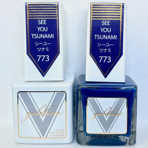 Vetro Goldline Gel + Matching Lacquer - See You Tsunami #773-Gel Nail Polish + Lacquer-Universal Nail Supplies