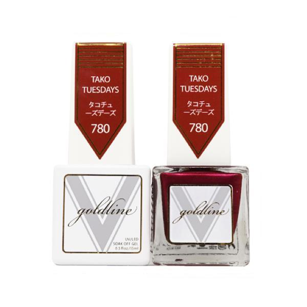 Vetro Goldline Gel + Matching Lacquer - Tako Tuesdays #780-Gel Nail Polish + Lacquer-Universal Nail Supplies