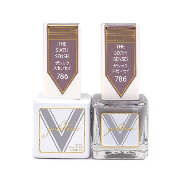 Vetro Goldline Gel + Matching Lacquer - The Sixth Sensei #786-Gel Nail Polish + Lacquer-Universal Nail Supplies