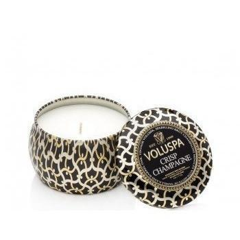 Voluspa Tuberosa Crisp Mini Champagne Decorative Tin Candle-Home Fragrance-Universal Nail Supplies
