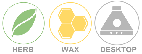 dry herb, wax and desktop icon