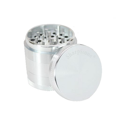 SharpStone Grinder - 5 Piece - Hard Top - Silver