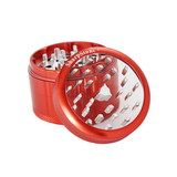 SharpStone Grinder - 4 Piece - Clear Top - Red