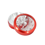 "SharpStone Grinder - 2 Piece - Clear Top (2.2"") - Red"