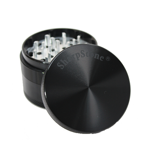 SharpStone Grinder - 4 Piece - Hard Top - Black