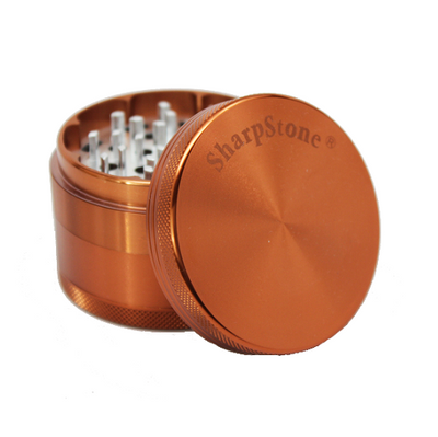 SharpStone Grinder - 4 Piece - Hard Top - Brown