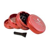SharpStone Grinder V2 - 4 Piece - Hard Top - Red