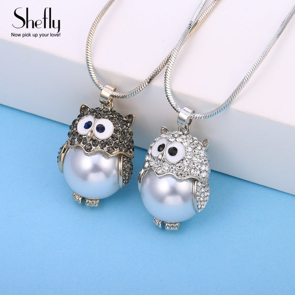 Women's Jewelry | Pearly Owl Necklace