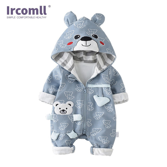 3-18mo | Romper | Warm Happy Bear