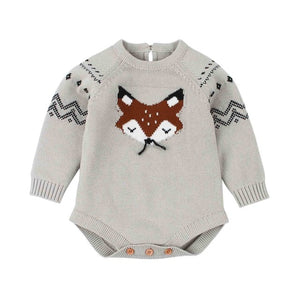 3-18mo | Romper | Knitted Fox
