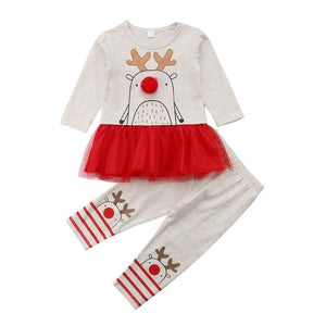 12mo-5T | Outfit | Hand-Drawn Reindeer