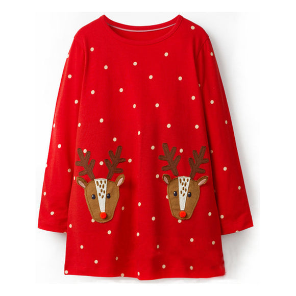 18mo-6 | Dress | Happy Reindeer