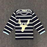 12mo-3T | Outfit | Reindeer Stripes