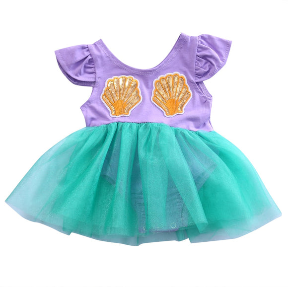 3-18mo | Romper | Mermaid Dress