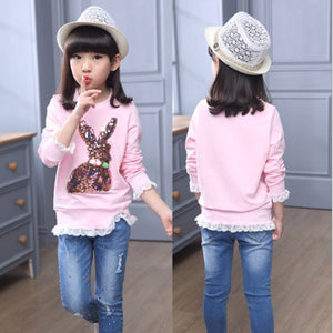 4T-12T | Shirt | Sequin Bunny