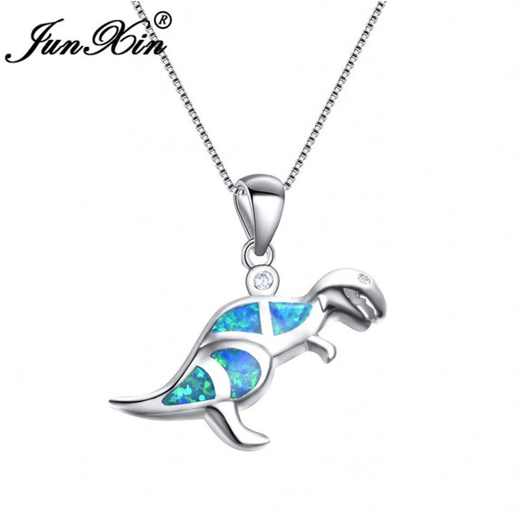 Women's Jewelry | Fire Opal Dinosaur Necklace