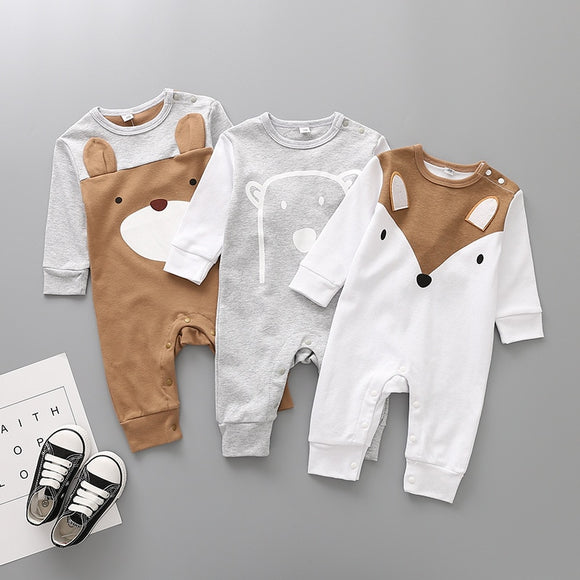 3-12mo | Romper | Cute Fox or Bear