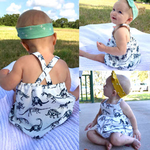 6mo-3T | Sundress | Dinosaur Sketches