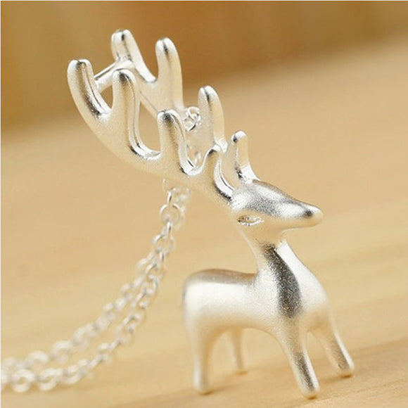 Women's Jewelry | Silver Reindeer Necklace