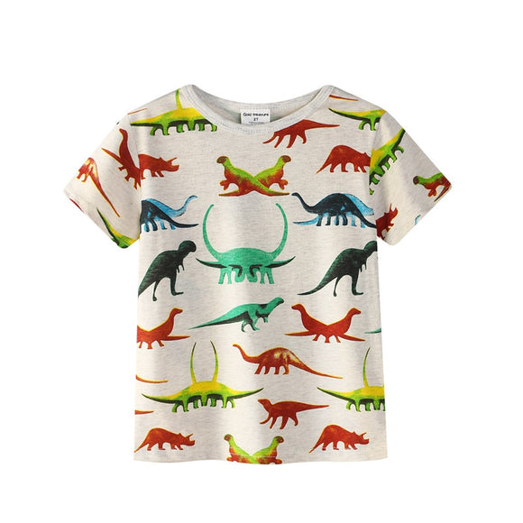 24mo-7T | T-Shirt | Dinosaur Colors