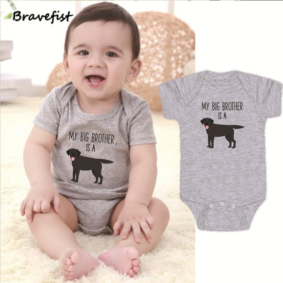 0-24mo | Romper | My Big Brother is a Dog