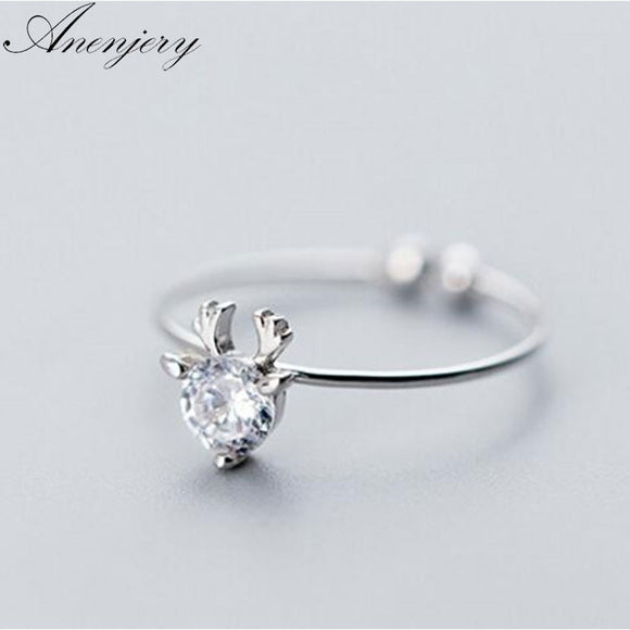 Women's Jewelry | Zirconia Deer Head Ring