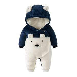 3-18mo | Romper | Snowy Winter Bear