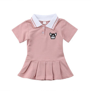 Toddlers Dress | Tennis Puppy