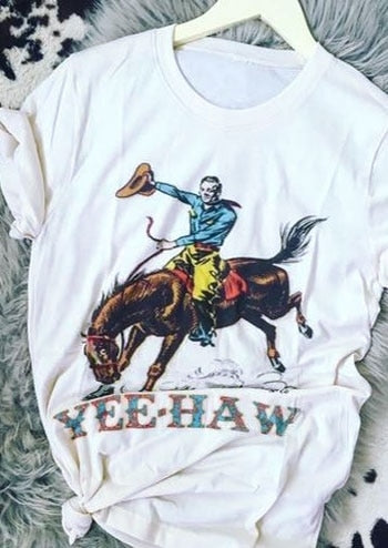 Womens T-Shirt | Yee-Haw Rodeo Horse