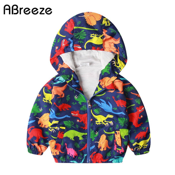 18mo-7 | Jacket | Bright Color Dinos