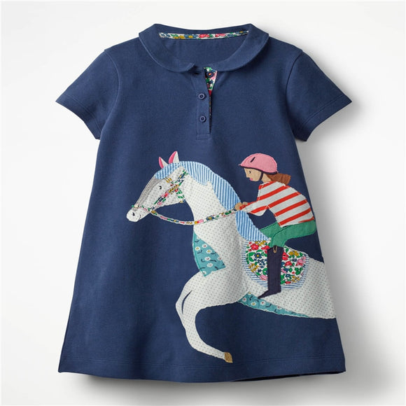 Toddlers Dress | Horse and Jockey