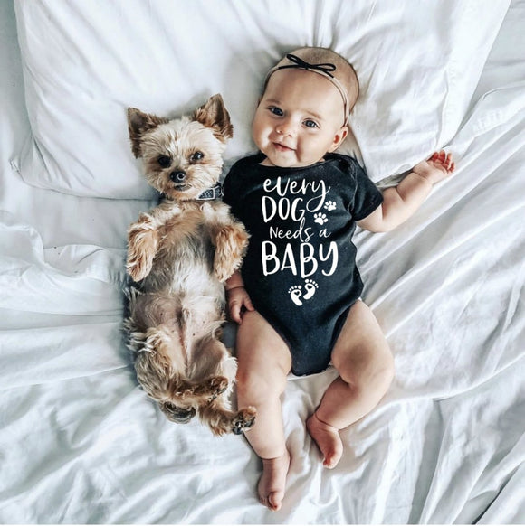 0-24mo | Romper | Every Dog Needs a Baby