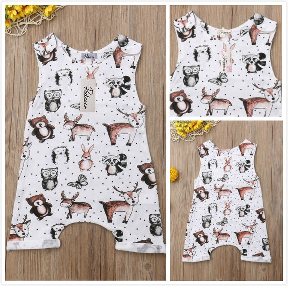 6-24mo | Romper | Cute Forest Animals