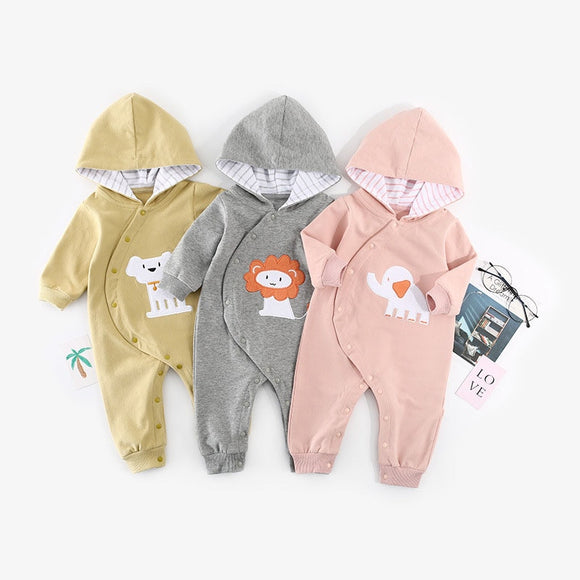 3-12mo | Romper | Elephant, Lion or Dog