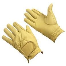Bitz Leather Gloves Adult - Xsmall / Beige