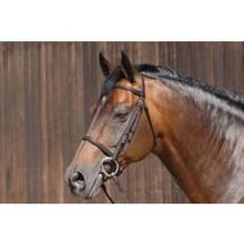 Caldene Bridle Plain Raised C/w Plain Reins - Cob / Black